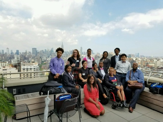Out in Tech Youth visit Two Sigma's NYC office.